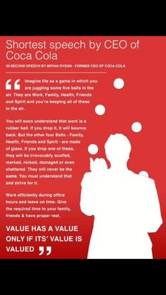 30 seconds of exceptional wisdom from Coca Cola's CEO. I would tell everyone to send these words of wisdom worth their weight in gold to their friends. Quotable Quotes, Wisdom Quotes, Motivational Quotes, Inspirational Quotes, Quotes Quotes, Faith Quotes, Funny Quotes, Work Quotes, Great Quotes