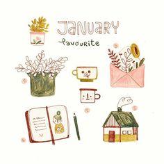 curtidas, 32 comentários - ⚘ Monа K Spot Illustration, Illustrations, Journal Stickers, Planner Stickers, Planner Doodles, Posca Art, Banners, Buch Design, Guache