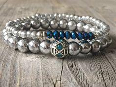 Bohemain armband half edelstenen dames armband door KennlyDesign