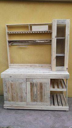 meubles cuisine palettes bois flott - Meuble De Cuisine En Palette