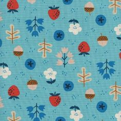 Cotton + Steel - Welsummer - Kimberly Kight - Forage in Bright Blue by Bobbie Lou's Fabric Factory