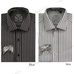 Stylish Men's Casual Dress Shirt | milano moda men s stylish casual dress shirt style 612