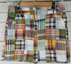 J. CREW Short Plaid Skirt Patchwork Madras Cotton Red Blue Yellow Green Sz 4 Sm | Clothing, Shoes & Accessories, Women's Clothing, Skirts | eBay!