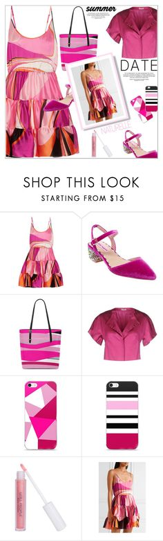 """""""La Demoiselle En Rose"""" by atelier-briella ❤ liked on Polyvore featuring Emilio Pucci, Betsey Johnson, P.A.R.O.S.H., W3LL People, Pink, iPhonecases, totebag and summerdatenight"""