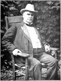 President William McKinley...25th President of the United States.  Assassinated in 1901 in the Temple of Music at the Pan American Exposition in Buffalo New York.
