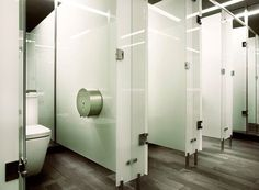 Aqueous glass toilet cubicles black toilet cubicles for Bathroom companies sydney