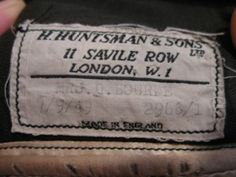 A vintage custom made riding habit by Huntsman and Son of Savile Row