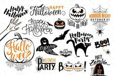 Happy Halloween celebration icon label templates. Ghost Themes