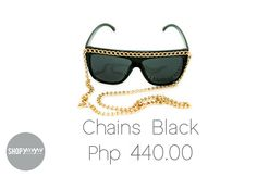 for the sexy and sassy Sassy, Sunglasses Women, Chain, Shopping, Black, Fashion, Moda, Black People, Fashion Styles