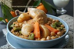 Une recette de couscous assez originale, c'est un couscous réalisé avec du boulghour, Un plat riche , familial et complet. Rincé trois fois à l'eau, le bou
