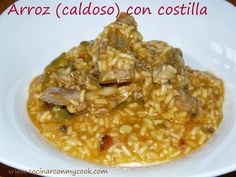 Cocinar con MyCook: enero 2014 Risotto, Macaroni And Cheese, Oatmeal, Chicken, Meat, Cooking, Breakfast, Ethnic Recipes, Food