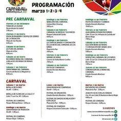 Programacion del Carnaval de Barranquilla 2014. QUIEN LO VIVE ES QUIEN LO GOZA!!!