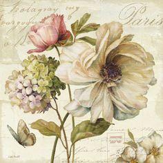 Blumenmarkt II Kunstdruck