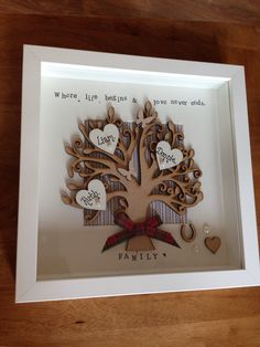 3d personalised family frame