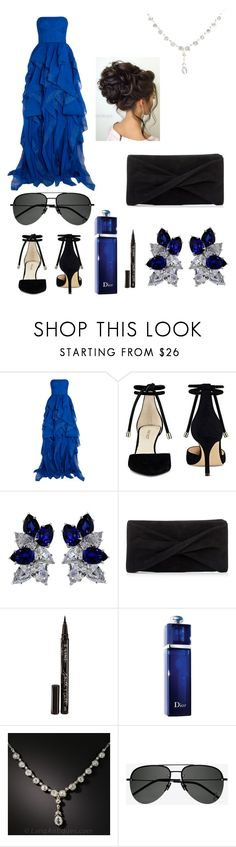 """""""Untitled #50"""" by consume-broccoli on Polyvore featuring Reem Acra, Nine West, Fantasia, Reiss, Smith & Cult, Christian Dior and Yves Saint Laurent"""