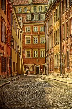 Alley in Warsaw