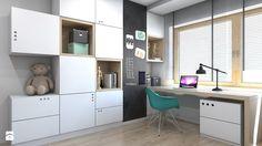 DOM JEDNORODZINNY D12/2015 TARNOWSKIE GÓRY - Średni pokój dziecka dla chłopca dla dziewczynki dla ucznia dla nastolatka, styl nowoczesny - zdjęcie od A2 STUDIO pracownia architektury - homebook