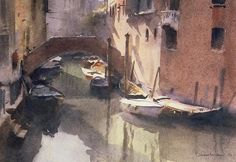 A Quiet Canal In Venice by Trevor Chamberlin.
