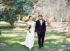 Ivy & Aster bride, Settie, in Rose Garden   Charleston wedding