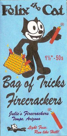 Felix The Cat bag of Tricks Firecrackers