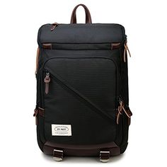 ZUMIT Laptop Backpack Business Messager Bag With YKK Zipper Up to 14 inches Laptop Black 805 >>> Read more reviews of the product by visiting the link on the image.