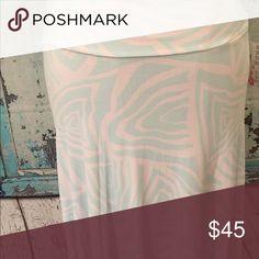 Maxi skirt /dress Small turquoise and white LuLaRoe Skirts Maxi