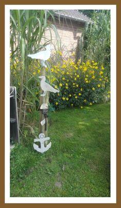 Anker und Möwen aus Beton. Bird Feeders, Outdoor Structures, Garden, Outdoor Decor, Home Decor, Photos, Anchors, Tutorials, Garten