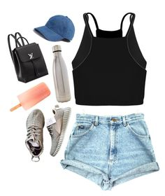 """Day14: 5sos concert"" by gotpunk5sos ❤ liked on Polyvore featuring Base Range, Boohoo, S'well and Madewell"