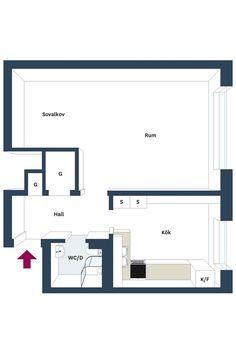 38 square meters studio apartment
