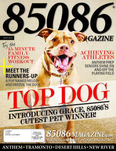 The May '15 issue of 85086 Magazine, produced by The Media Barr, Inc.  www.85086magazine.com www.themediabarr.com