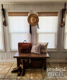 Rustic Farmhouse Entry Bench made from Reclaimed Materials by Larissa of Prodigal Pieces | prodigalpieces.com #prodigalpieces #furniture #reclaimed #farmhouse #home #homedecor Rustic Farmhouse, Farmhouse Style, Upright Grand Piano, Piano Parts, Entry Bench, Dresser Top, Trash To Treasure, Drawer Fronts, Paper Cover