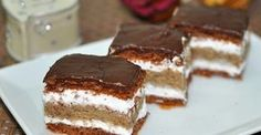 Ez nekem is tutira a kedvenceim közé kerülne! Hungarian Desserts, Hungarian Recipes, Hungarian Food, Sweet Recipes, Cake Recipes, Dessert Recipes, Sweet Cookies, Sweet Treats, Cake Bars