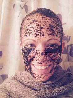 DYI: Multipurpose Face Mask using left over coffee grounds, honey, lemon juice & cinnamon! Helps rejuvenate skin to its natural glow. Reduces and eliminates dark circles and bags under eyes. Firms skin & minimizes pores. Clears up acne while diminishing scars. Use equal parts of all ingredients. For more of a paste use more honey. Can be used as just a scrub or under eye treatment. I use it as a mask & then gently scrub it off 30 minutes later in the shower! I apply leftovers to my hair…