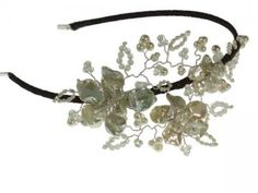 May Blossom Mini Headdres. Vine side tiara with pearl flowers nestled amongst delicate branches of Swarovski, moonstone and pearl. Hermione Harbutt. http://www.hermioneharbutt.com