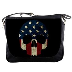 American Skull Messenger Bag by StuffoftheDead