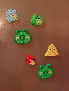 Angry Birds Perler Bead Magnets