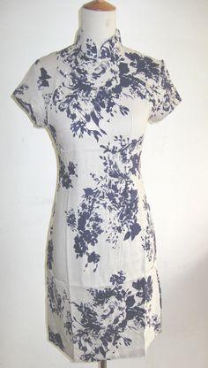 Retro Cotton Linen Short Chinese Dress by RockRollRefresh on Etsy, $35.00