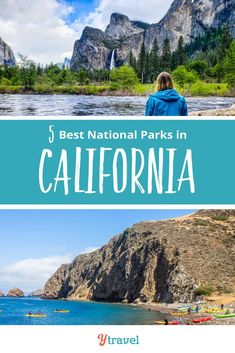Must Visit California National Parks. There's so much more than just the beach! Plan the best California vacation with these travel tips, including info on Yosemite, Death Valley, Joshua Tree, Redwoods and Channel Island all belong on your bucket list.  So many  beautiful places to visit with gorgeous yet unique hiking opportunities, things to do, and more! Use this guide to visit them all on a road trip #California #nationalpark #nationalparks #Californiatravel  #DeathValley #roadtrip