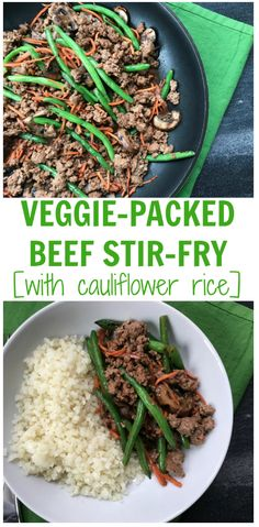 Add more vegetables to your family's diet with this veggie-packed beef stir-fry. Ready in just under 25 minutes with plenty of fresh veggies to add to this one-pan meal! Healthy Beef Recipes, Raw Food Recipes, Healthy Lunches, Healthy Treats, Yummy Recipes, Free Recipes, Dessert Recipes, Healthy Eating, Cooking Recipes
