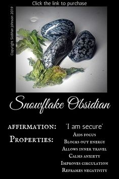 Snowflake obsidian is a beautiful stone that will really help your inner or shadow work. Get yours by clicking through Crystal Magic, Crystal Healing Stones, Crystal Grid, Crystal Shop, Crystal Cluster, Chakra Crystals, Crystals And Gemstones, Stones And Crystals, Crystals Minerals