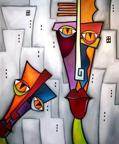 Art: Caught A glimpse - Faces 448 by Artist Thomas C. Cubist Art, Abstract Face Art, Art Portfolio, Abstract Photography, African Art, Sculpture Art, Modern Art, Pop Art, Art Drawings