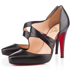 Christian Louboutin Citoyenne 100mm Sandals Black - Modern Mary Jane