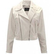 Women's Soft Stone Biker Leather Jacket