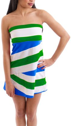 Colorful stripe dress for summer