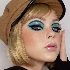 1960s Makeup, Retro Makeup, Vintage Makeup, Makeup Art, Beauty Makeup, Hair Makeup, New Makeup Ideas, Makeup Inspiration, Hippie Makeup