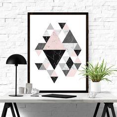 Printable Wall Art Geometric Art Scandinavian by ILovePrintable