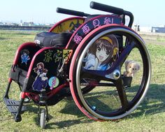 "Ita-Wheelchair. What's !? Yes, this is it. Of cause, there are some anime geeks. ""Ita"" means ""Auch""."