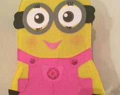 DIY girl minion birthday party game Girl by RaisinsPartySupplies