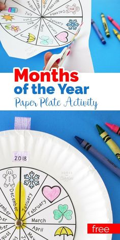 A fun months of the year craftivity. Kids will love the interactive element of this. Includes a free printable to make prep a breeze. A fun months of the year craftivity. Kids will love the interactiv Teaching Calendar, Calendar Activities, Kids Learning Activities, Educational Activities, Fun Learning, Preschool Activities, Homeschool Kindergarten, Homeschooling, Kindergarten Calendar