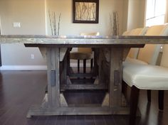 Ana White | Leave it to Joy Triple Pedestal Wide Farmhouse Table - DIY Projects